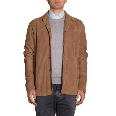 Overshirt in punchet goat suede (2)