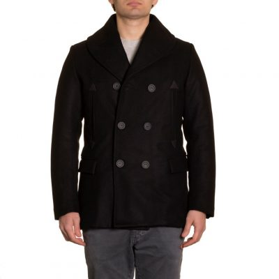 SHAWL COLLAR DOUBLE BREASTED PEACOAT (1)