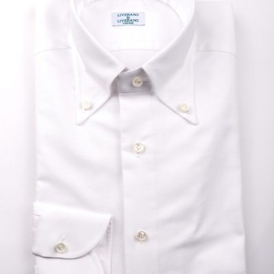 White Oxford Button Down Shirt L3 Collar1